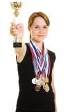 Campeón de la muchacha foto de archivo libre de regalías