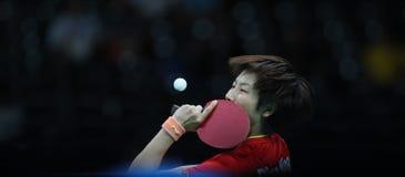 Campeón de los tenis de mesa de Ding Ning en los Juegos Olímpicos en Río 2016 Fotografía de archivo