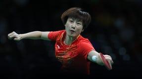 Campeón de los tenis de mesa de Ding Ning en los Juegos Olímpicos en Río 2016 Imagen de archivo