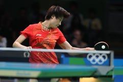 Campeón de los tenis de mesa de Ding Ning en los Juegos Olímpicos en Río 2016 Imágenes de archivo libres de regalías