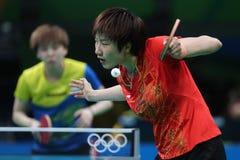 Campeón de los tenis de mesa de Ding Ning en los Juegos Olímpicos en Río 2016 Fotos de archivo