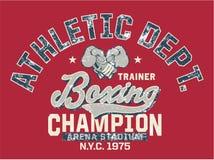 Campeón del boxeo Foto de archivo libre de regalías