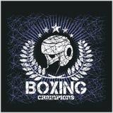 Campeón del boxeo - ilustraciones del vector del vintage para t libre illustration