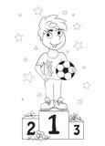 Campeón del muchacho Embroma el libro de colorear Fotografía de archivo libre de regalías