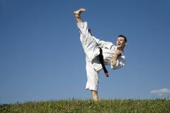 Campeón del mundo del karate - kata Foto de archivo libre de regalías