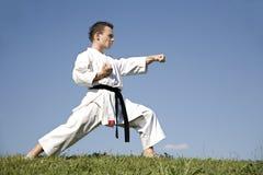 Campeón del mundo del karate - kata Imagenes de archivo