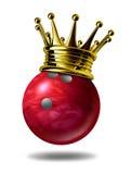 Campeón del rey del bowling stock de ilustración