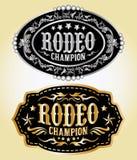 Campeón del rodeo - hebilla del cinturón del vaquero