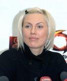 Campeón femenino del mundo de Natacha Ragosina del boxeador Imagen de archivo libre de regalías