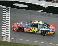 Campeón Jeff Gordon de NASCAR fotografía de archivo