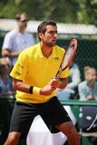 Campeón Marin Cilic del Grand Slam de Croacia en la acción durante su tercer partido de la ronda en Roland Garros 2015 Fotos de archivo libres de regalías
