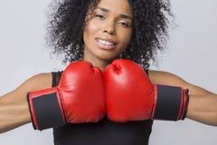 Campeón olímpico futuro en el boxeo Foto de archivo libre de regalías