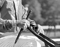 Campeón que contiene del hipódromo histórico de Saratoga imagenes de archivo