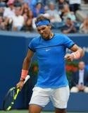 Campeón Rafael Nadal del Grand Slam de España en la acción durante su partido redondo 3 del US Open 2016 Fotos de archivo