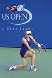 Campeón Samantha Stosur del Grand Slam durante el segundo partido de la ronda del US Open 2014 contra Kaia Kanepi Fotografía de archivo libre de regalías