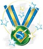 Campeões brilhantes e brilhantes da medalha Imagem de Stock Royalty Free