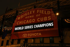 Campeões de world series dos Chicago Cubs Fotos de Stock Royalty Free