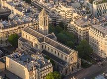 Campeões do DES de Eglise Notre-Dame em Paris imagens de stock royalty free
