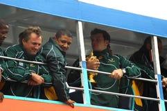 Campeões do rugby Fotografia de Stock Royalty Free