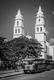 Campeche cathedral, Mexico. royalty free stock photo