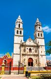 Campeche Cathedral in Mexico stock image