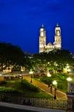 Campeche Central Park lizenzfreies stockfoto