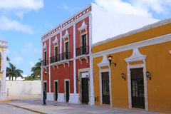Campeche City colonial architecture, Yucatan, Mexico stock photos
