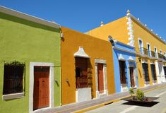 Campeche City in Mexico royalty free stock photography