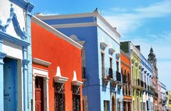 Campeche City in Mexico colonial architecture Stock Photos