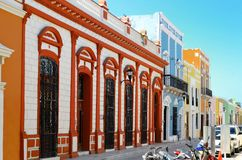 Campeche City in Mexico colonial architecture Royalty Free Stock Photo
