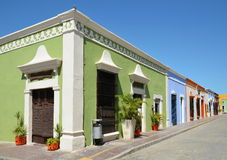 Campeche City in Mexico colonial architecture Royalty Free Stock Image