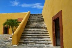 Campeche - Fort van San Miguel stock foto's