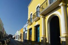Campeche-Gebäude Lizenzfreie Stockfotos