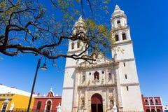 Campeche katedry widok zdjęcia stock