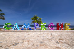 Campeche letters selfie photo opportunity Stock Photo
