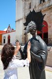 Campeche Mexico-Februari 18, 2014: Kvinnor på gatan i den Campeche staden Mexico Royaltyfri Fotografi