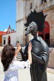 Campeche, Mexiko 18. Februar 2014: Frauen auf Straße in Campeche-Stadt Mexiko Lizenzfreie Stockfotografie