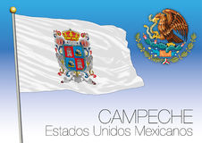 Campeche regional flag, United Mexican States, Mexico Stock Image