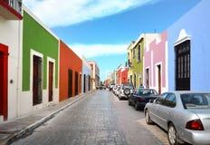 Campeche-Stadt in der Mexiko-Colonialarchitektur stockfotografie