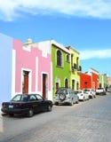 Campeche-Stadt in der Mexiko-Colonialarchitektur lizenzfreies stockbild