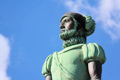 Campeche Statue waterfront , Mexico stock image