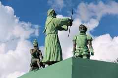 Campeche Statue waterfront , Mexico royalty free stock photos