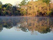 Haze on the River royalty free stock photography