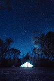 Camped under the stars Stock Images