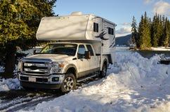 Campeggiatore del camion Immagini Stock Libere da Diritti
