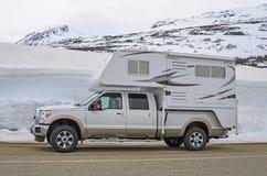 Campeggiatore del camion Fotografia Stock Libera da Diritti