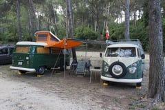 Campeggiatore del T1 di Volkswagen fotografia stock