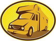 Campeggiatore Van Mobile Home Retro Fotografia Stock