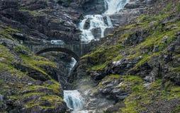 Campeggiatore Van Trip della Norvegia Fotografia Stock