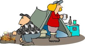 Campeggiatori Fotografia Stock